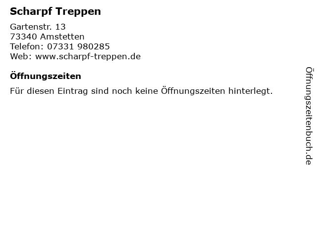 Scharpf Treppen in Amstetten: Adresse und Öffnungszeiten