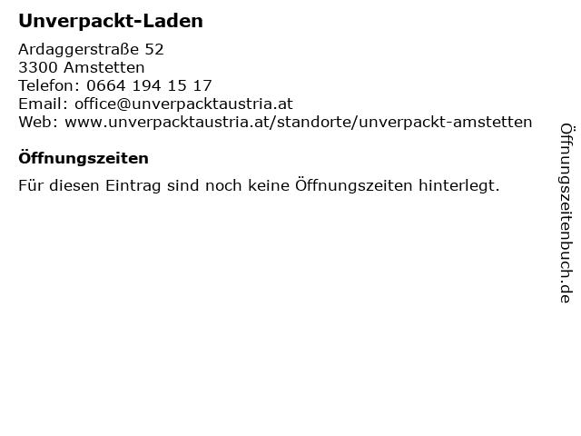 Unverpackt-Laden in Amstetten: Adresse und Öffnungszeiten