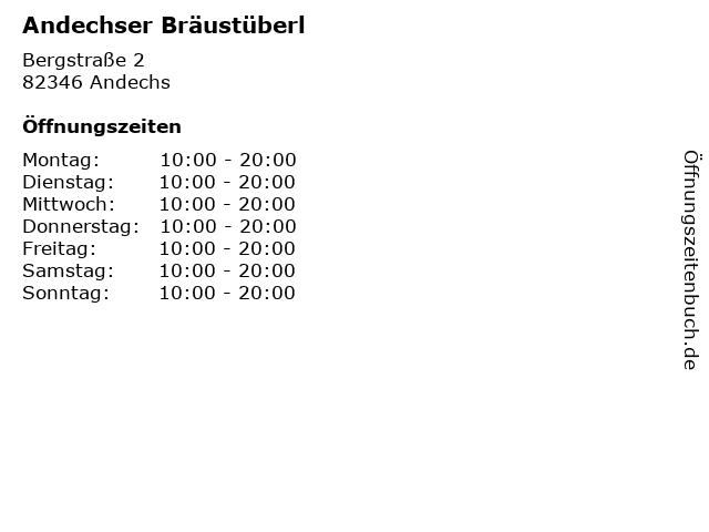 Andechser Bräustüberl in Andechs: Adresse und Öffnungszeiten