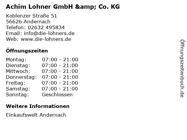 Achim Lohner GmbH & Co. KG in Andernach: Adresse und Öffnungszeiten