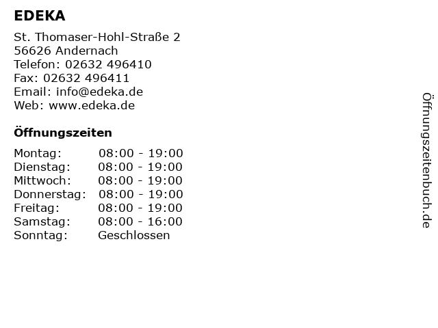 EDEKA in Andernach: Adresse und Öffnungszeiten