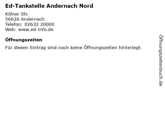 Ed-Tankstelle Andernach Nord in Andernach: Adresse und Öffnungszeiten
