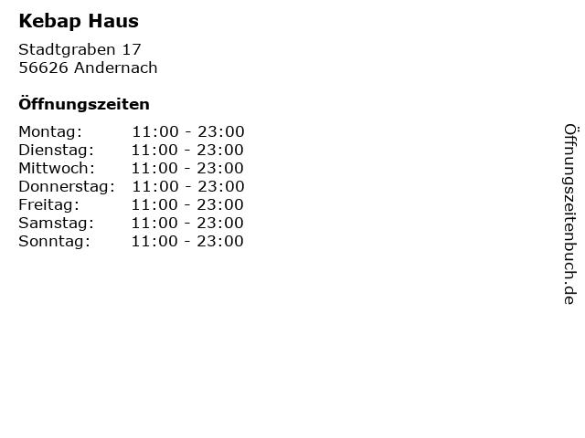 Kebap Haus in Andernach: Adresse und Öffnungszeiten