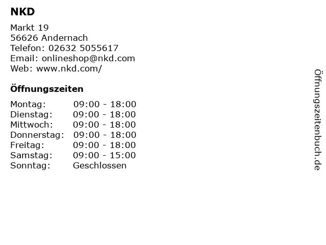NKD in Andernach: Adresse und Öffnungszeiten