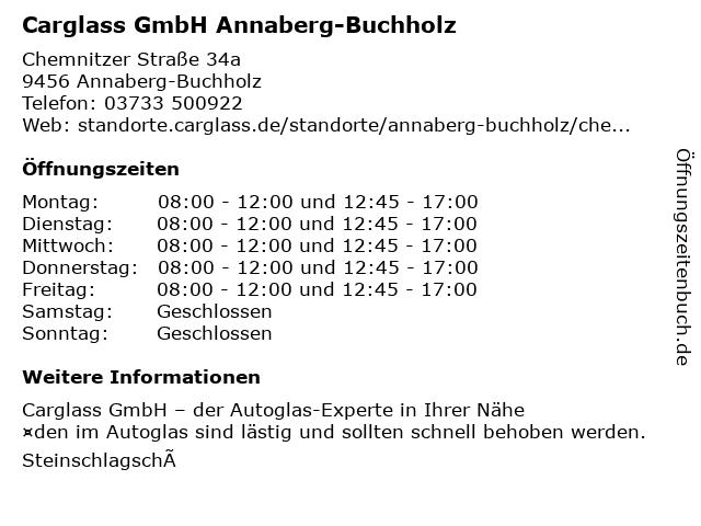 Carglass GmbH Annaberg-Buchholz in Annaberg-Buchholz: Adresse und Öffnungszeiten