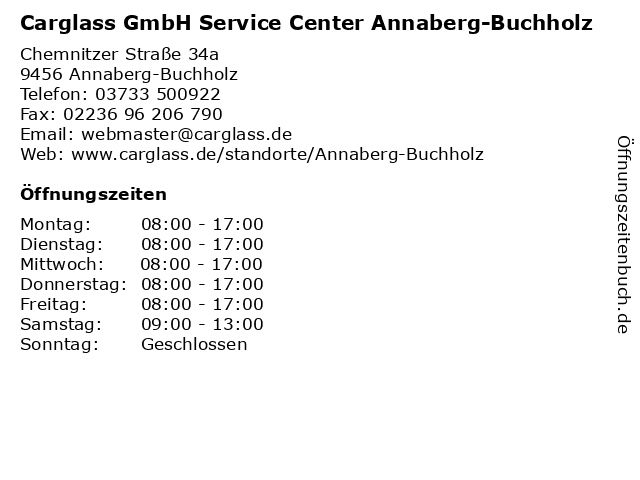 Carglass GmbH Service Center Annaberg-Buchholz in Annaberg-Buchholz: Adresse und Öffnungszeiten