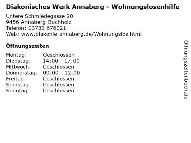 Diakonisches Werk Annaberg - Wohnungslosenhilfe in Annaberg-Buchholz: Adresse und Öffnungszeiten