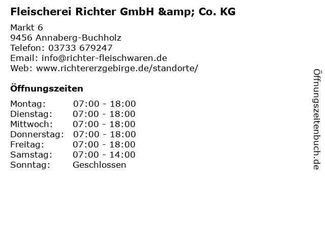 Fleischerei Richter GmbH & Co. KG in Annaberg-Buchholz: Adresse und Öffnungszeiten