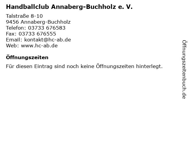 Handballclub Annaberg-Buchholz e. V. in Annaberg-Buchholz: Adresse und Öffnungszeiten