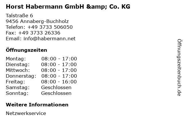 Horst Habermann GmbH & Co. KG in Annaberg-Buchholz: Adresse und Öffnungszeiten