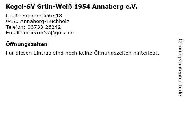 Kegel-SV Grün-Weiß 1954 Annaberg e.V. in Annaberg-Buchholz: Adresse und Öffnungszeiten