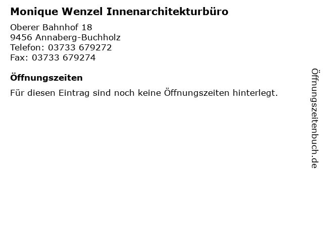 Monique Wenzel Innenarchitekturbüro in Annaberg-Buchholz: Adresse und Öffnungszeiten