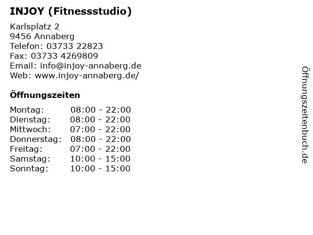 INJOY (Fitnessstudio) in Annaberg: Adresse und Öffnungszeiten