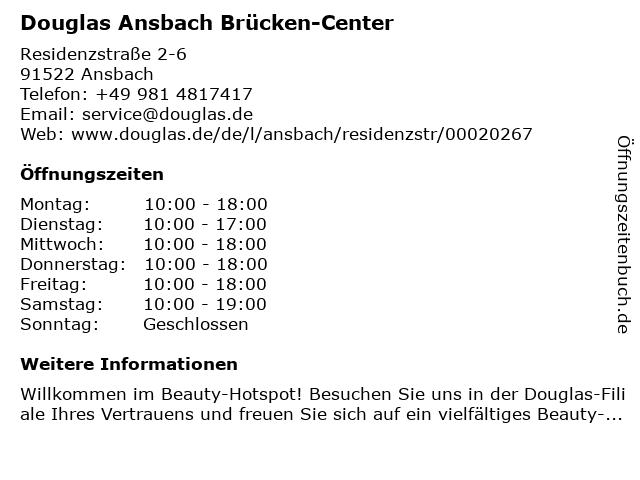 Parfümerie Douglas in Ansbach: Adresse und Öffnungszeiten