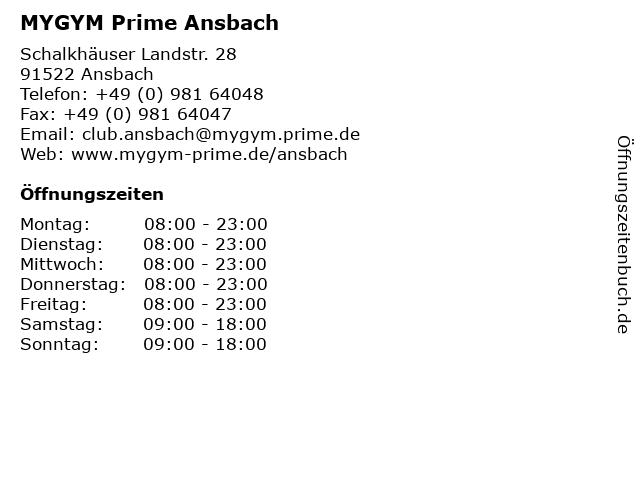 INJOY (Fitnessstudio) in Ansbach: Adresse und Öffnungszeiten
