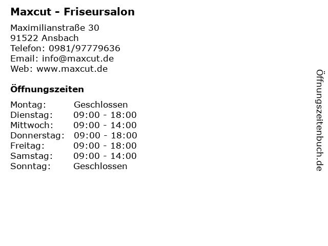 Maxcut - Friseursalon in Ansbach: Adresse und Öffnungszeiten