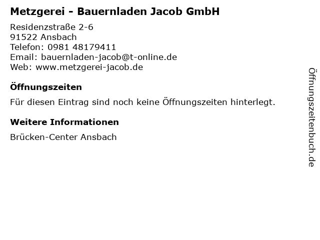 Metzgerei - Bauernladen Jacob GmbH in Ansbach: Adresse und Öffnungszeiten