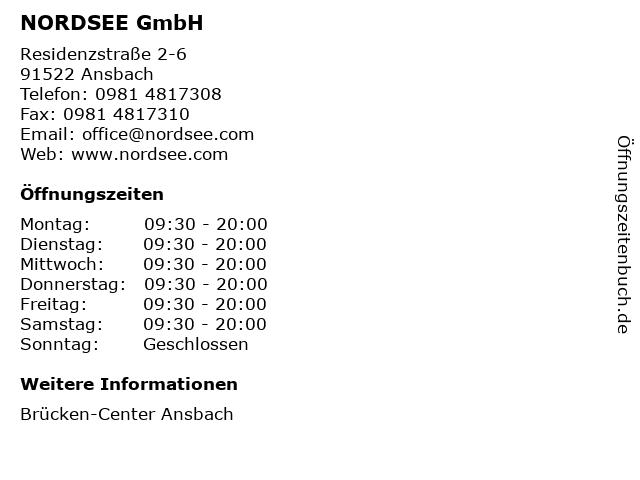 NORDSEE GmbH in Ansbach: Adresse und Öffnungszeiten