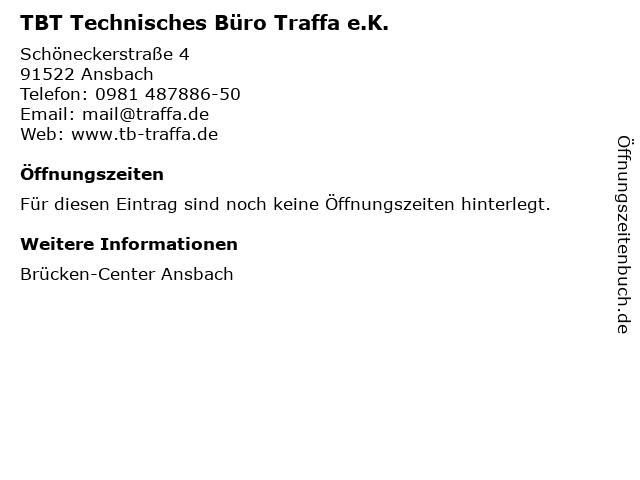TBT Technisches Büro Traffa e.K. in Ansbach: Adresse und Öffnungszeiten