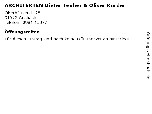 TKAN-Architeckten und Ingenieure in Ansbach: Adresse und Öffnungszeiten