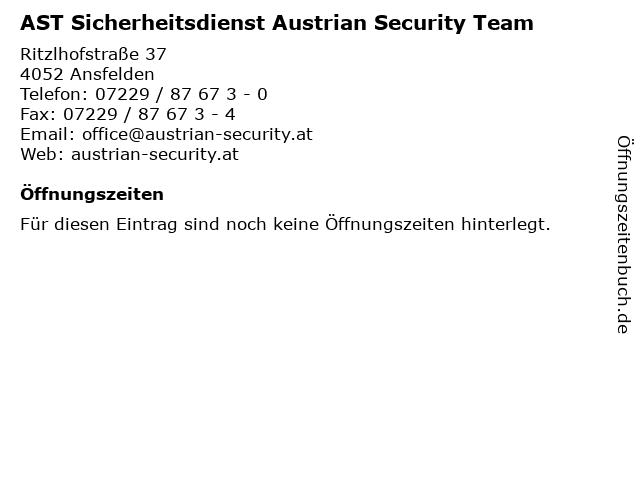AST Sicherheitsdienst Austrian Security Team in Ansfelden: Adresse und Öffnungszeiten