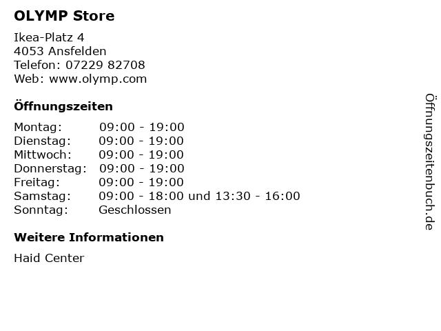 OLYMP Store in Ansfelden: Adresse und Öffnungszeiten