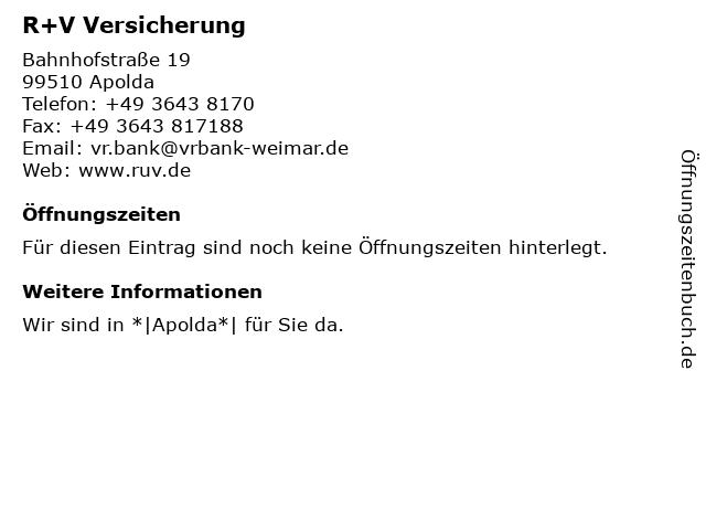 VR Bank Weimar eG (Geldautomat) in Apolda: Adresse und Öffnungszeiten