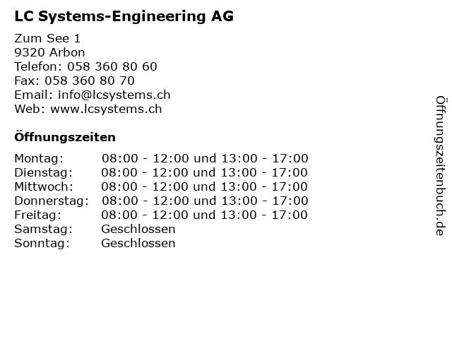 LC Systems-Engineering AG in Arbon: Adresse und Öffnungszeiten