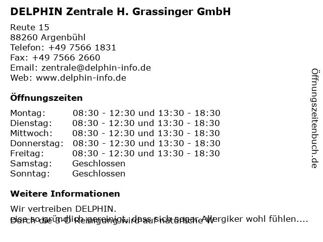 DELPHIN Zentrale H. Grassinger GmbH in Argenbühl: Adresse und Öffnungszeiten