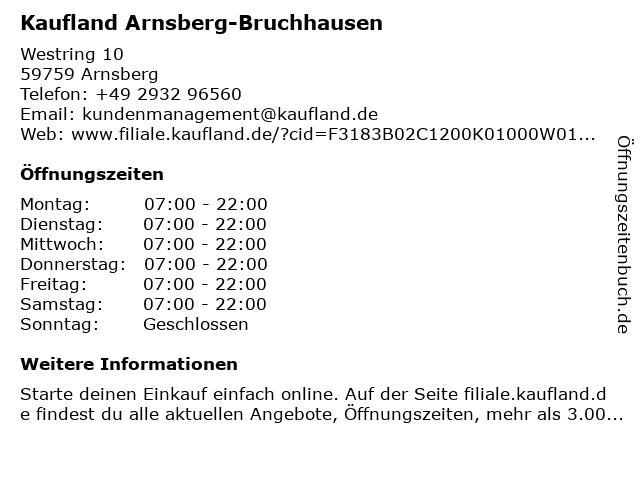 MAXMO Apotheke im Kaufland in Arnsberg: Adresse und Öffnungszeiten