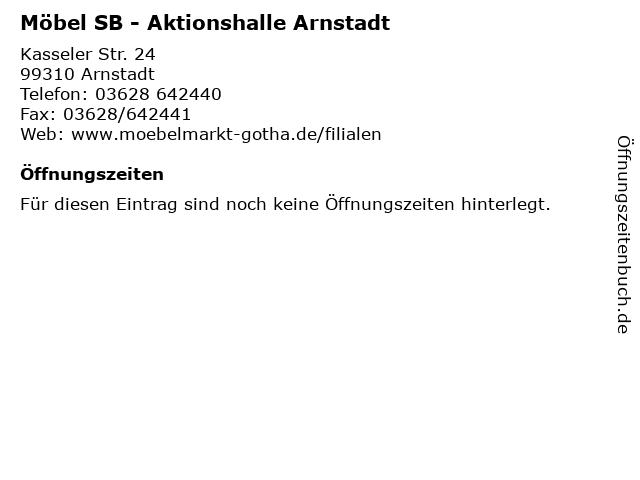 ᐅ öffnungszeiten Möbel Sb Aktionshalle Arnstadt Kasseler Str