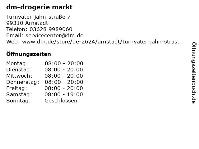 dm-drogerie markt GmbH + Co. KG in Arnstadt: Adresse und Öffnungszeiten