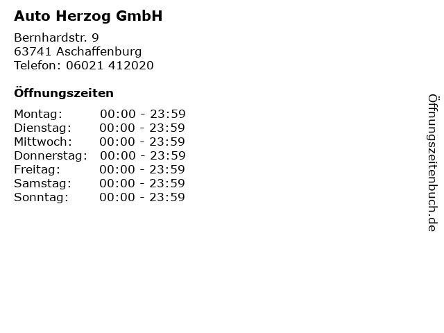 Auto Herzog GmbH in Aschaffenburg: Adresse und Öffnungszeiten