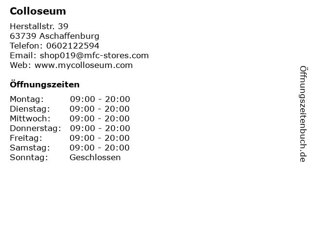 Colloseum in Aschaffenburg: Adresse und Öffnungszeiten