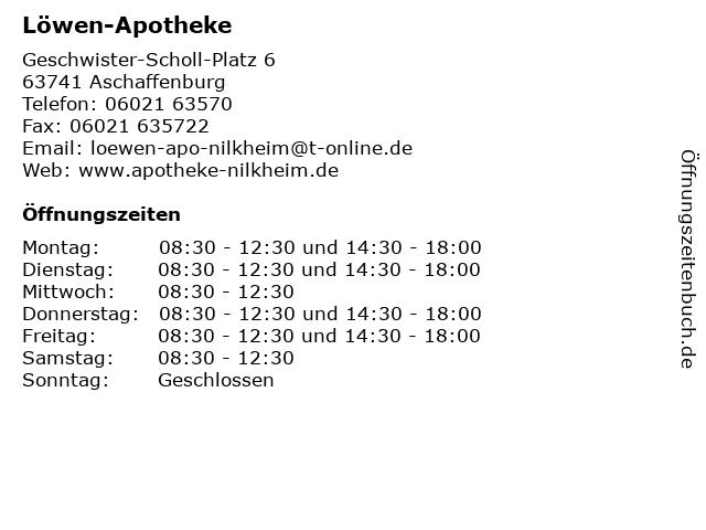 Löwen-Apotheke in Aschaffenburg: Adresse und Öffnungszeiten