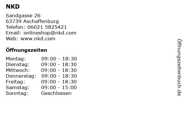 NKD in Aschaffenburg: Adresse und Öffnungszeiten
