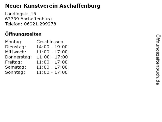 Neuer Kunstverein Aschaffenburg in Aschaffenburg: Adresse und Öffnungszeiten