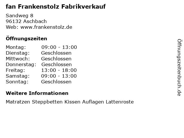 Bilder Zu Fan Frankenstolz Fabrikverkauf In Aschbach