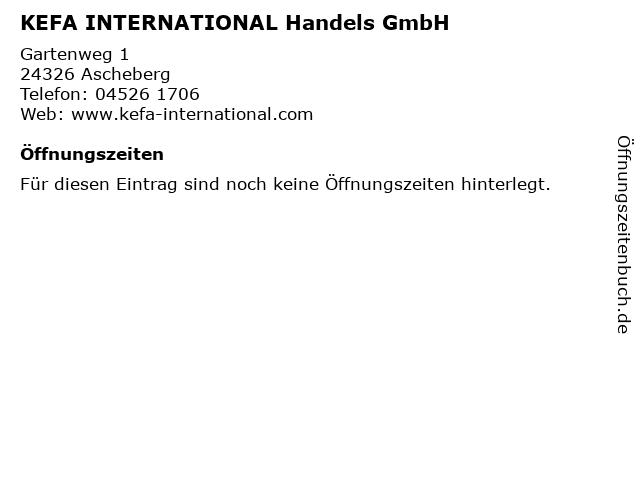 KEFA INTERNATIONAL Handels GmbH in Ascheberg: Adresse und Öffnungszeiten