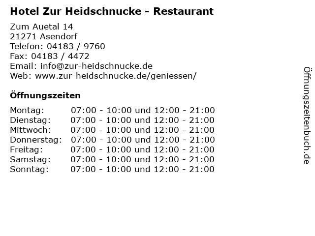 Hotel Zur Heidschnucke - Restaurant in Asendorf: Adresse und Öffnungszeiten