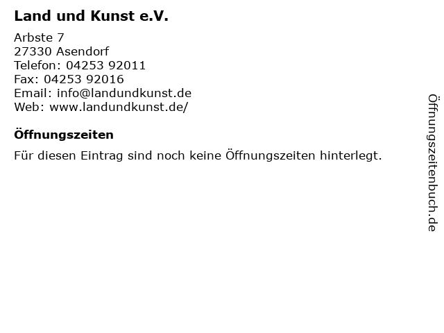 Land und Kunst e.V. in Asendorf: Adresse und Öffnungszeiten