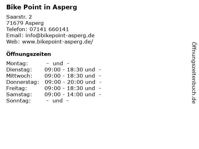 Bike Point in Asperg in Asperg: Adresse und Öffnungszeiten