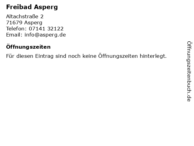 Freibad Asperg in Asperg: Adresse und Öffnungszeiten