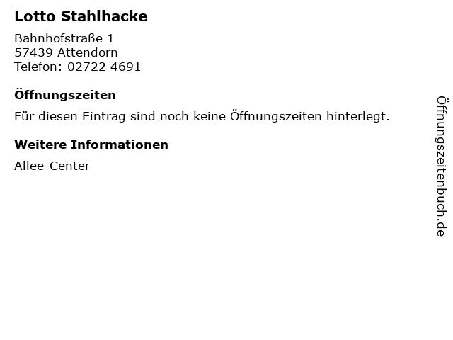 Lotto Stahlhacke in Attendorn: Adresse und Öffnungszeiten