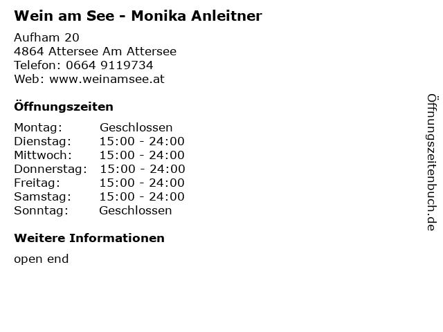 Wein am See - Monika Anleitner in Attersee Am Attersee: Adresse und Öffnungszeiten