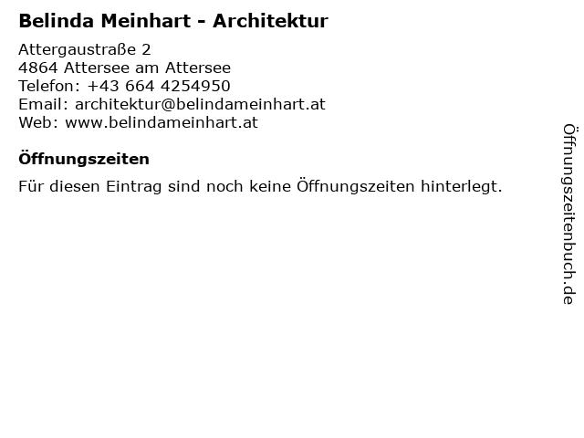 Belinda Meinhart - Architektur in Attersee am Attersee: Adresse und Öffnungszeiten