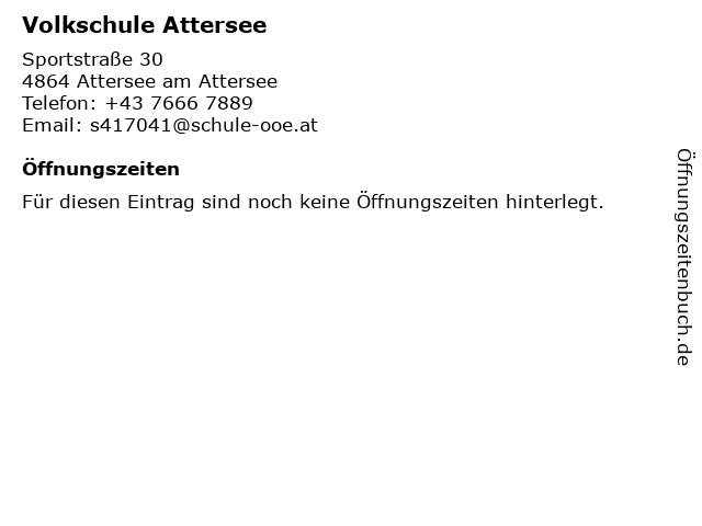 Volkschule Attersee in Attersee am Attersee: Adresse und Öffnungszeiten