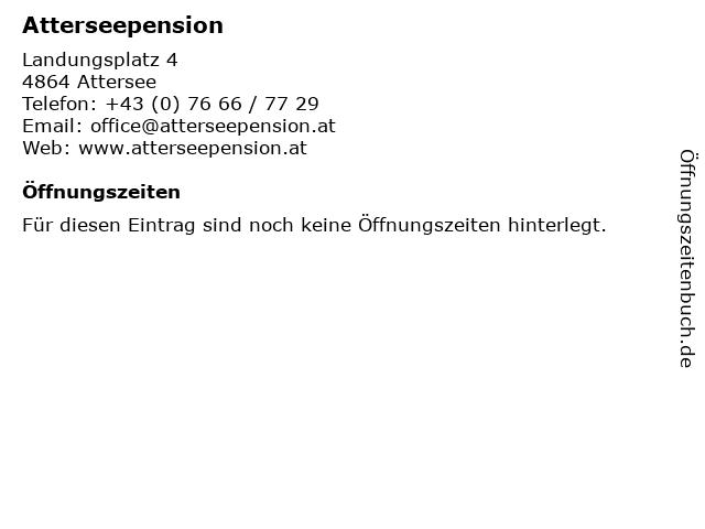 Atterseepension Mens in Attersee: Adresse und Öffnungszeiten