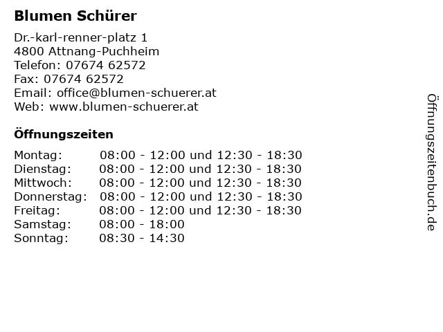 Blumen Schürer in Attnang-Puchheim: Adresse und Öffnungszeiten