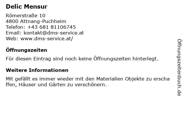 Delic Mensur in Attnang-Puchheim: Adresse und Öffnungszeiten